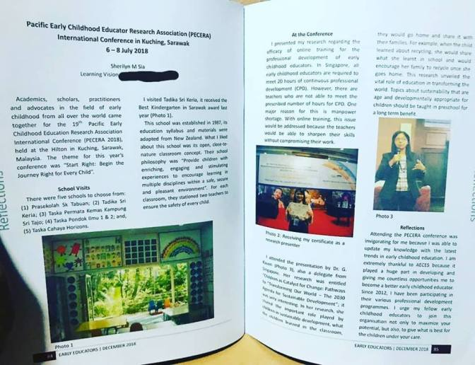 PECERA International Conference Reflection in AECES Journal