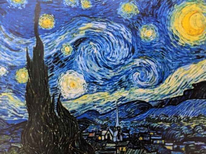 Art for preschool children: Van Gogh's Starry Night