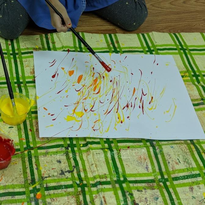 Jackson Pollock's Drip Painting